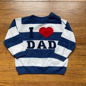 I love dad size 9-12 months boys sweater H&M